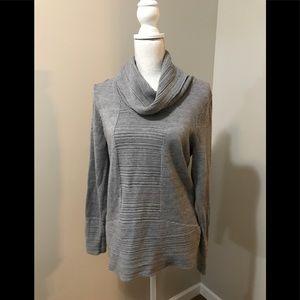Calvin Klein Gray Cowl Neck Sweater Size Medium